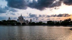 Victoria Memorial på den tiden av solnedgången royaltyfri foto
