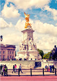 The Victoria Memorial is a sculpture dedicated to Queen Victoria, created by Sir Thomas Brock. Royalty Free Stock Photo
