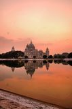 Victoria Memorial vertical reflection Stock Photography