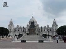 Victoria Memorial von Kolkata, Indien lizenzfreies stockbild