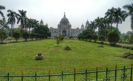 Victoria minnes- Calcutta Indien Arkivbilder