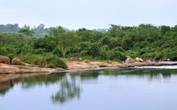 Victoria Nile scenery in Uganda Royalty Free Stock Photo