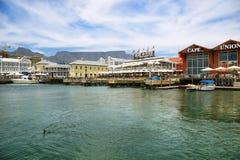 Victoria och Alfred Waterfront i Cape Town Arkivbilder