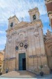 Victoria på den Gozo ön, Malta - Maj 8, 2017: Basilika och college- församlingkyrka av St George Arkivfoton