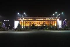 Victoria Palace vid natt Royaltyfria Foton