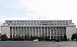 Victoria-Palast - rumänische Regierung stockfotos