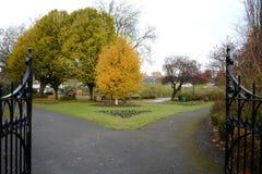 Victoria park. In fall season in united kingdom Royalty Free Stock Photos