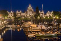 Victoria Parliament House Canada Royalty Free Stock Photos