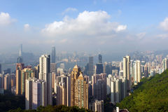Victoria peak. Hongkong view from victoria peak Stock Photos