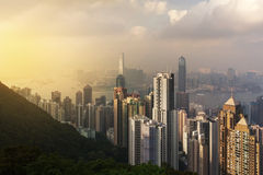 Victoria peak. Hongkong view from victoria peak royalty free stock photo