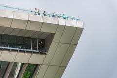 Victoria Peak trascura l'orizzonte di Hong Kong immagini stock