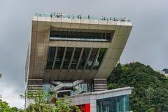 Victoria Peak trascura l'orizzonte di Hong Kong fotografia stock