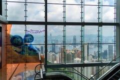 Victoria Peak trascura l'orizzonte di Hong Kong fotografia stock libera da diritti