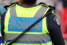 Victoria Police Constable fournit la s?curit? pendant le d?fil? 2019 de jour de l'Australie ? Melbourne photos libres de droits