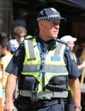 Victoria Police Constable fournit la s?curit? pendant le d?fil? 2019 de jour de l'Australie ? Melbourne photographie stock libre de droits