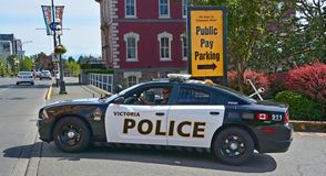 Victoria polisbil Arkivbilder