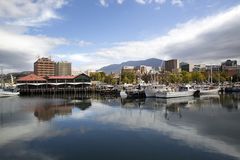 Victoria Port em Hobart Harbor - Tasmânia imagens de stock royalty free