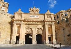 Victoria port i Valletta royaltyfri bild