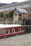 Victoria Quays också som är bekant som Sheffield Canal Basin i Sheffield, South Yorkshire, Förenade kungariket - 13th September 2 arkivfoton