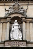 Victoria. Queen Victoria stone Statue in Bath, England royalty free stock images