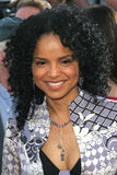 Victoria Rowell. Wears the Star Wars charity necklace in the colors of Mace Windu's light saber at the premiere of Star Wars III: Revenge of the Sith at Mann royalty free stock image