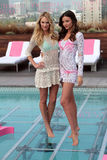 Victoria's Secret,Miranda Kerr,Candice Swanepoel. Candice Swanepoel, Miranda Kerr  at Victoria's Secret 2012 SWIM Collection, Thompson Hotel, Beverly Hills, CA Royalty Free Stock Photo
