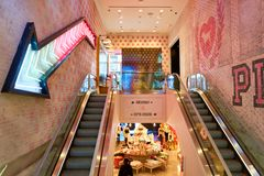 Victoria's Secret store. NEW-YORK - MARCH 15, 2016: interior of Victoria's Secret store. Victoria's Secret is the largest American retailer of women's lingerie Stock Photography
