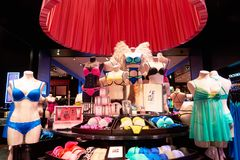 Victoria's Secret store. NEW-YORK - MARCH 15, 2016: interior of Victoria's Secret store. Victoria's Secret is the largest American retailer of women's lingerie Stock Photo