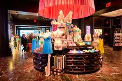 Victoria's Secret store. NEW-YORK - MARCH 15, 2016: interior of Victoria's Secret store. Victoria's Secret is the largest American retailer of women's lingerie Royalty Free Stock Photo