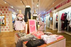 Victoria's Secret store. NEW-YORK - MARCH 15, 2016: interior of Victoria's Secret store. Victoria's Secret is the largest American retailer of women's lingerie Stock Image