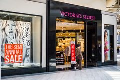 Victoria`s Secret storefront in Great Mall. June 5, 2018 Milpitas / CA / USA - Victoria`s Secret storefront in Great Mall, south San Francisco bay area Stock Image