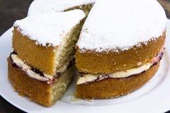 Victoria sandwich Stock Photo