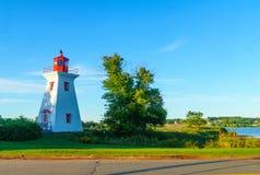 Victoria Seaport Lighthouse, PEI stockfotos