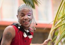 Victoria, Seychellen - 9. Februar 2013: Ein lokaler Seychellen-Mann Lizenzfreie Stockfotos