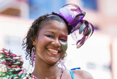 VICTORIA, SEYCHELLES � April 26, 2014: Happy Creole women at t Stock Image