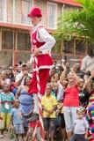 Victoria, Seychelles - 9 de febrero de 2013: Grupo belga de tradi Imagen de archivo libre de regalías