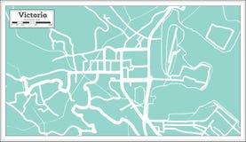 Victoria Seychelles City Map en estilo retro Ejemplo blanco y negro del vector Libre Illustration