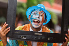 Victoria, Seychelles - February 9, 2013: Colorfull Royalty Free Stock Photos