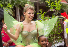 Victoria, Seychelles - February 9, 2013:  A young Caucasian wome Royalty Free Stock Images