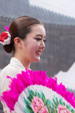 Victoria, Seychelles - February 9, 2013:  A young Korean women w Royalty Free Stock Photography