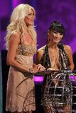 Victoria Silvstedt,Bai Ling. Victoria Silvstedt and Bai Ling during the World Music Awards Show. Kodak Theatre, Hollywood, CA. 08-31-05 Royalty Free Stock Photos
