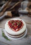 Victoria Sponge Cake Royaltyfri Foto