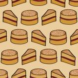 Victoria Sponge Cake Background Stock Image