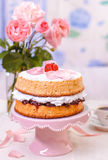 Victoria sponge cake Royalty Free Stock Photos
