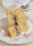 Victoria sponge cake Royalty Free Stock Images