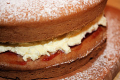 Victoria sponge home made Stock Photos