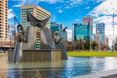 Victoria Square-Brunnen, Adelaide CBD, Süd-Australien Lizenzfreie Stockfotos