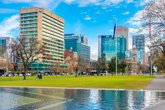 Victoria Square-Brunnen, Adelaide CBD, Süd-Australien Lizenzfreies Stockfoto