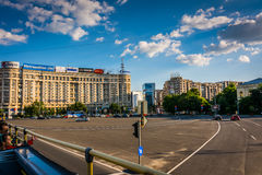 Victoria Square, Bucharest Stock Photo