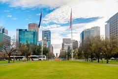 Victoria Square fountain, Adelaide CBD, South Australia Royalty Free Stock Photo
